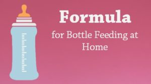 formula for bottle feeding at home